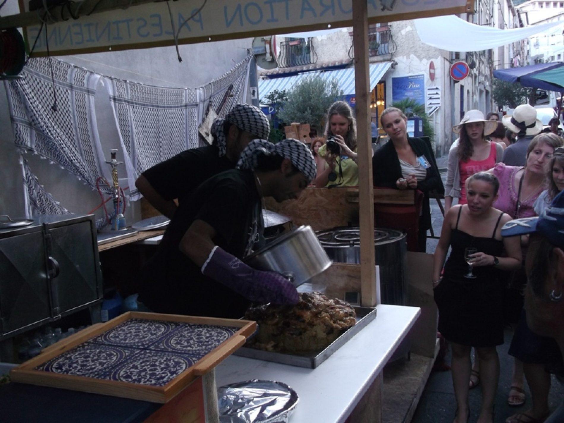 La cuisine palestinienne aux «Voix Vives» 2012 à Sète