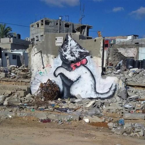 Banksy «s'invite» à Gaza