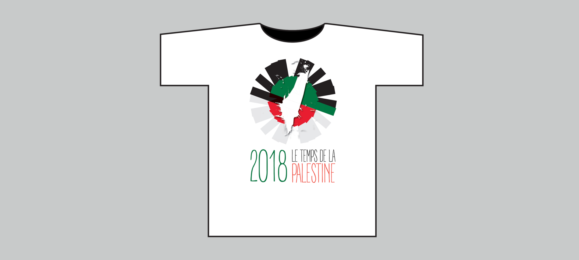 T-SHIRT – LE TEMPS DE LA PALESTINE 2018