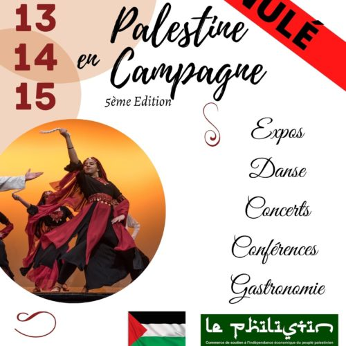 Pas de Festival Palestine en Campagne cette année